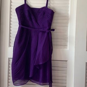 J.CREW purple silk dress